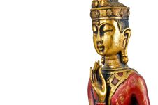 Free Golden Buddha Face Royalty Free Stock Photography - 6592647