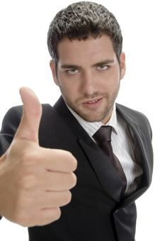 Free Attractive Businessman Showing Thumbs Up Royalty Free Stock Images - 6592759