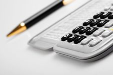 Free сalculator And Pen Stock Images - 6593214