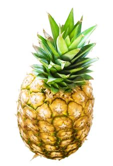 Free Pineapple On White Royalty Free Stock Photo - 6593555