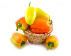 Free Red Green Yellow Sweet Beautiful Pepper Stock Images - 6594034