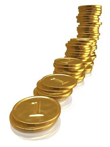 Free Golden Coins Royalty Free Stock Photography - 6594097
