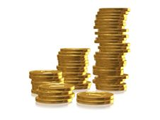 Free Golden Coins Royalty Free Stock Image - 6594106