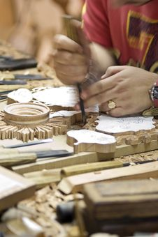 Craftsman Of The Wood Stock Photography