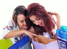 Free Happy Shopping Girl Royalty Free Stock Photo - 6595185