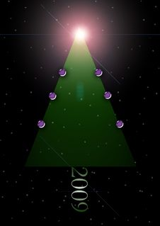 Free Abstract Christmas Tree Stock Photography - 6595312
