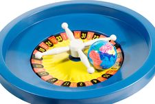 Free Globe On Zero On The Roulette Wheel Royalty Free Stock Photography - 6595437