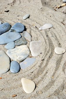 Free Stones On Sand Stock Images - 6596804