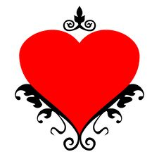 Free Red Heart With Ornaments, Vector Illustration Royalty Free Stock Photos - 6596878