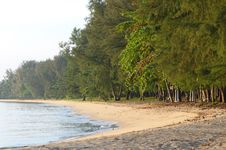 Beach In The Early Morning Stock Photography