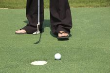Free Golf On Sandals Royalty Free Stock Photos - 6597438