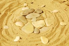 Free Stones On Sand Royalty Free Stock Photos - 6597638