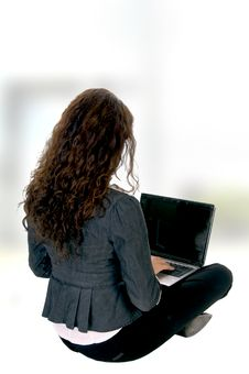 Free Female Busy With Laptop Royalty Free Stock Photos - 6597698