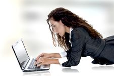 Free Beautiful Female Working On Laptop Stock Photos - 6597703