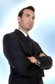 Businessman Folding Hands Stock Photo