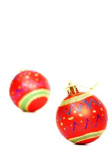 Free Vibrant Red Christmas Decorations Royalty Free Stock Photo - 6597795
