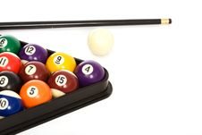Free Billiard Balls Arranged In A Triangle Royalty Free Stock Photos - 6598688