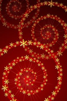 Christmas Snowflake Decoration Royalty Free Stock Images