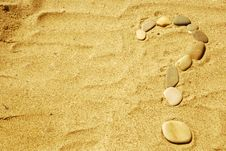 Free Stones On Sand Royalty Free Stock Images - 6599329