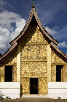 Free Temple Xieng Thong, Luang Prabang, Laos Royalty Free Stock Image - 6599726