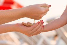 Free Falling Sand Stock Image - 6599951