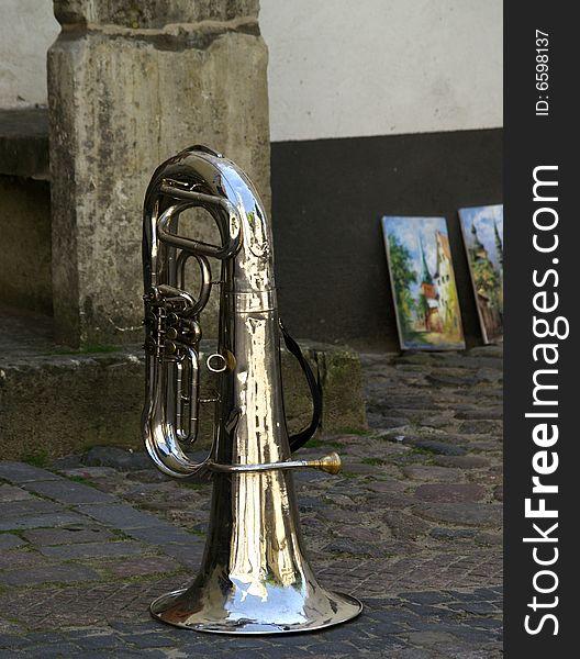 Street musicians instrument