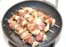Cooking Shashlik Royalty Free Stock Photo