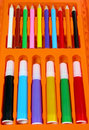 Free Colors Pencil-box Stock Images - 662824