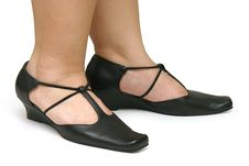 Free Black Strapped Shoes Royalty Free Stock Image - 660006