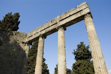Free Pompei_Roman_Antiquites Royalty Free Stock Photos - 661468