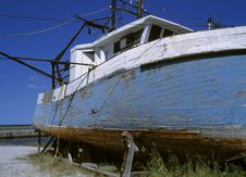 Damaged Boat Royalty Free Stock Images