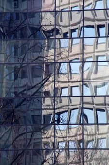 Waved Windows Royalty Free Stock Image