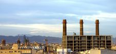 Free Barcelona Skyline Royalty Free Stock Photos - 662798