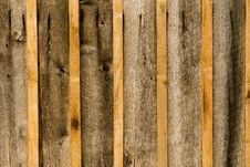 Close-Up Of Rough Wood Siding Stock Photo