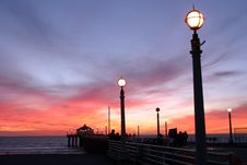 Free Pier & Lamp Post Stock Photo - 666020