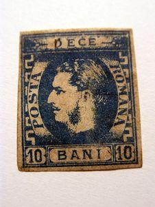 Free Very Old Stamp 10 Bani Royalty Free Stock Image - 666916