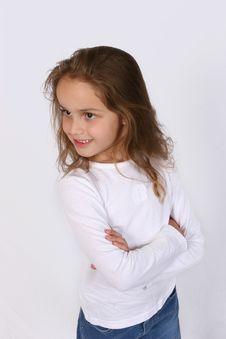 Free Posing Young Girl Royalty Free Stock Photos - 668178
