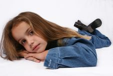 Free Young Girl Relaxing Stock Photography - 668232