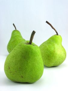 Free Three Pears Stock Photography - 668892