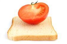 Toast With Tomato 1 Stock Photos