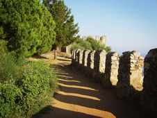 Free Castle Wall Royalty Free Stock Photos - 669888