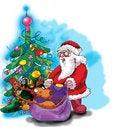 Free Deer, Santa Claus And Christmas Tree Stock Photo - 6607210