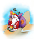 Free Santa Claus With His Presents On The Plane Royalty Free Stock Photo - 6607275