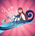 Free Abstract Vector Background_Girl 003 Royalty Free Stock Image - 6609156