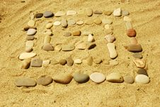 Free Stones On Sand Stock Photo - 6600560
