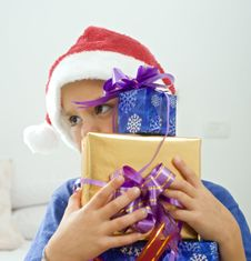 Free Boy And Presents Royalty Free Stock Photos - 6600658