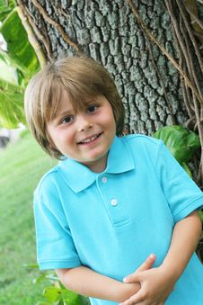 Free Happy Cute Little Boy Outside Stock Photo - 6600720