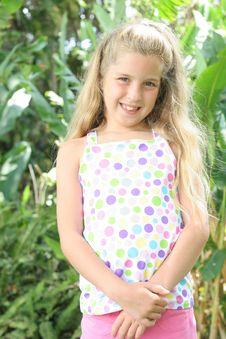 Sweet Little Girl Outside Stock Images