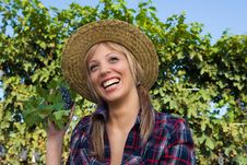 Free Closeup Portrait Of A Happy Young Peasant Woman Stock Image - 6601131