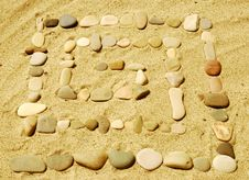 Free Stones On Sand Stock Images - 6601394